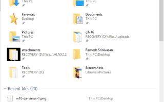 [Исправлено] Представление быстрого доступа неверно — часто используемые папки и последние файлы не группируются отдельно