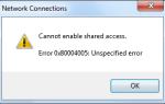 Исправлена ошибка общего подключения к Интернету, равная NULL или 80004005 в Windows 7