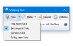 Как сделать Snipping Tool по умолчанию новым Snip при запуске