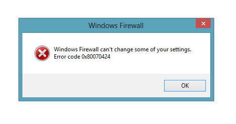 windws 8 firewall 0x80070242