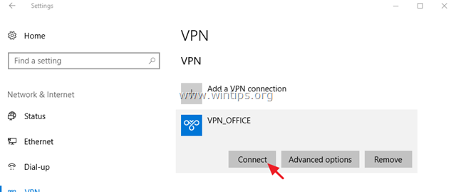 настройка windows 10 vpn
